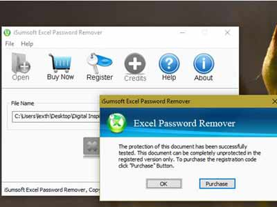 dữ liệu Excel bị đặt password